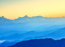 восход солнца Гималаев Стоковое Фото