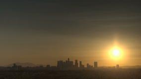 Восход солнца горизонта Лос-Анджелеса сток-видео