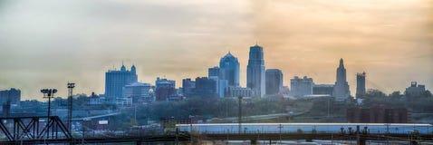 Восход солнца горизонта Kansas City Стоковая Фотография RF