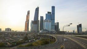 Восход солнца города Москвы сток-видео