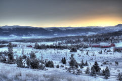 Восход солнца горы Snowy Стоковые Изображения RF