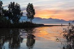 восход солнца Греции Стоковое Изображение RF