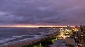 Восход солнца Дурбана стоковая фотография rf