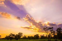 Восход солнца захода солнца стоковое изображение