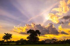 Восход солнца захода солнца Стоковое фото RF