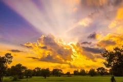 Восход солнца захода солнца стоковая фотография