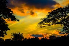 Восход солнца захода солнца Стоковые Изображения