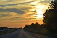 Восход солнца/заход солнца Стоковые Изображения