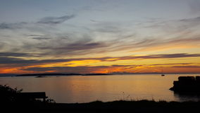 Восход солнца залива дуба стоковое фото