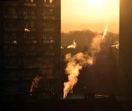 Восход солнца зимы в› Å™ice LitomÄ Стоковые Фотографии RF