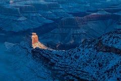 Восход солнца зимы грандиозного каньона Стоковое Изображение