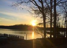 Восход солнца зимы Стоковые Фотографии RF
