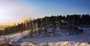 Восход солнца зимы Стоковое Изображение RF