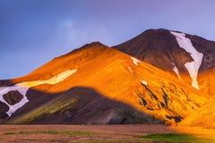 восход солнца Исландии Fairy рассвет Стоковая Фотография RF