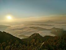 Восход солнца и заход солнца в парке нации Таиланда Стоковая Фотография