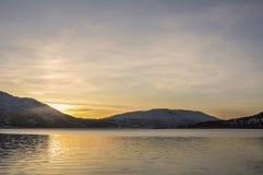восход солнца или заход солнца Стоковое фото RF