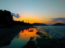 Восход солнца и море Стоковая Фотография RF