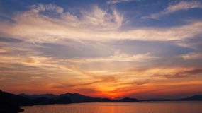 Восход солнца и cloudscape Стоковое Изображение