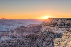 восход солнца каньона грандиозный Стоковое фото RF