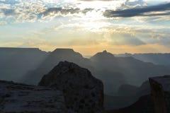восход солнца каньона грандиозный Стоковая Фотография