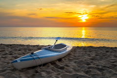 Восход солнца каяка Стоковые Фото