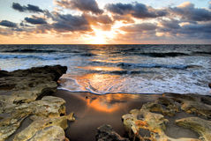 Восход солнца коралла стоковое фото rf