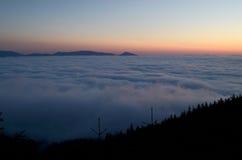восход солнца красивейшей весны природы лужка иллюстрации положительной солнечный Стоковое Фото