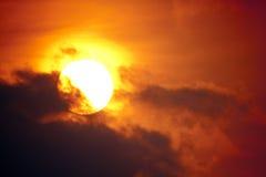 Восход солнца - крупный план стоковая фотография