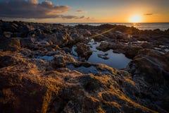 Восход солнца Лансароте Стоковые Фото