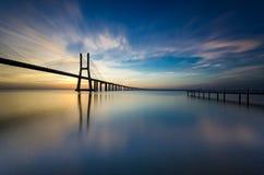 Восход солнца Лиссабона Стоковое фото RF