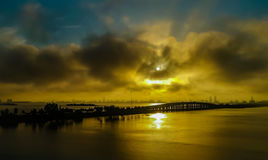 Восход солнца Майами Стоковые Фотографии RF