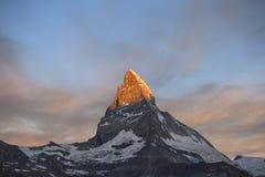 Восход солнца Маттерхорна Стоковое фото RF