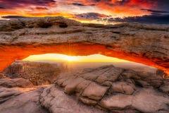 восход солнца мезы свода Стоковая Фотография RF