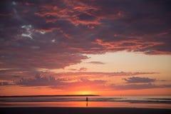 Восход солнца Мейна Стоковое фото RF