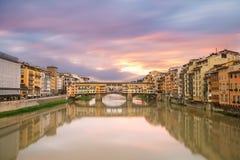 Восход солнца мирного Флоренса Стоковые Изображения