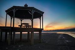 Восход солнца Мильтона озера Стоковое фото RF