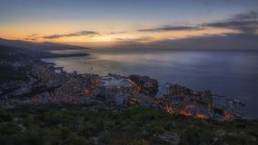 Восход солнца Монако Монте-Карло Стоковая Фотография RF