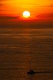 восход солнца моря 3d Стоковые Фото