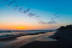 восход солнца моря 3d Стоковое Изображение
