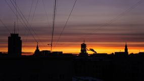 Восход солнца Москвы Стоковое фото RF