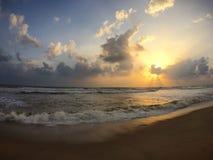 Восход солнца муссона на Kuala Terengganu Стоковые Изображения RF