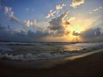 Восход солнца муссона на Kuala Terengganu Стоковые Фотографии RF