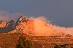Восход солнца национального парка Сиона Стоковое фото RF