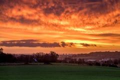 Восход солнца над Абердином стоковые изображения