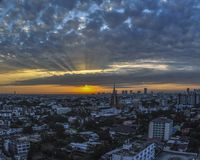 Восход солнца над Бангкоком Стоковое Изображение RF