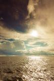 Восход солнца над Балтийским морем Стоковая Фотография