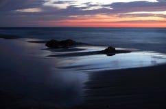 Восход солнца на Балтийском море в heringsdorf Германии Стоковая Фотография RF