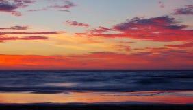 Восход солнца на Балтийском море в heringsdorf Германии Стоковое Изображение