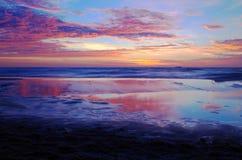Восход солнца на Балтийском море в heringsdorf Германии Стоковая Фотография