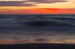 Восход солнца на Балтийском море в heringsdorf Германии Стоковое фото RF